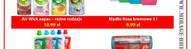 Produkty dla domu – promocje MIRAGE Lipiec 2017