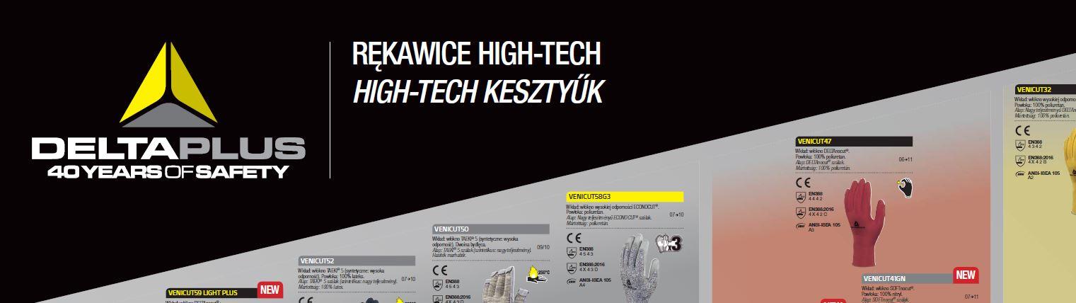 DELTA PLUS – pełna gama rękawic HIGH-TECH & SYNTETYCZNYCH