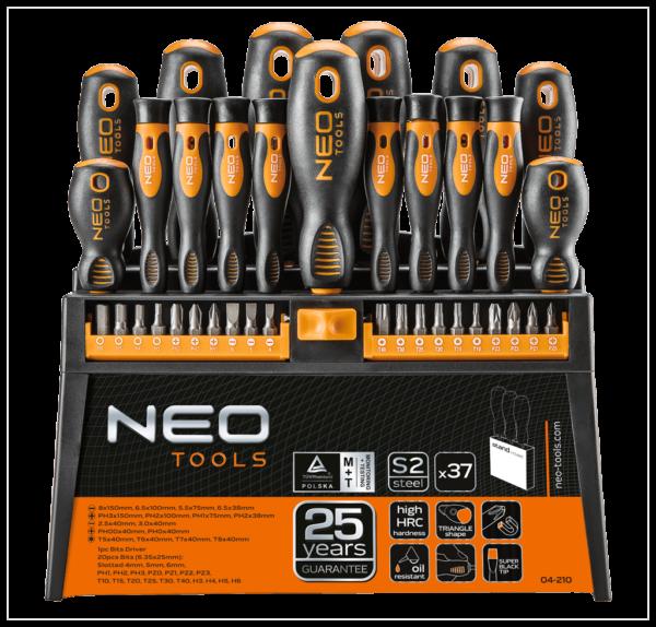 Zestaw wkrętaków i końcówek NEO – 37 elementów